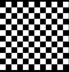black and white checkered seamless pattern vector image vector image