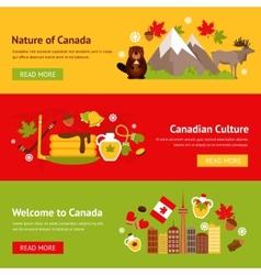 Canada banner set vector image vector image