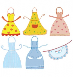 cartoon aprons vector image vector image
