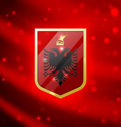 Coat of arms of albania vector