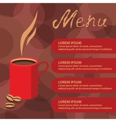 Corporate identity of menu cafe coffee background vector