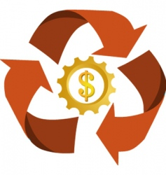 dollar recycling vector image