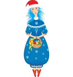 girl xmas isolated vector image vector image