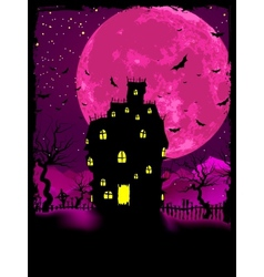 halloween mansion background vector image vector image