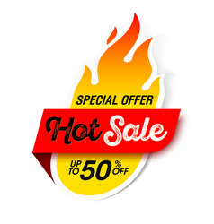 hot sale banner special offer big sale discount vector image vector image