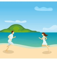Lovers running poster vector