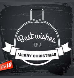 Merry christmas congratulate poster vector