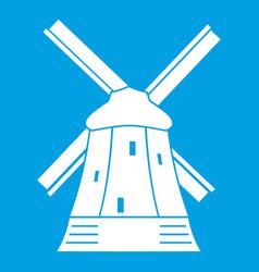 Mill icon white vector