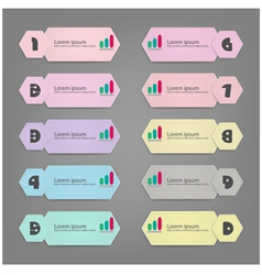 Minimal infographic template vector image vector image