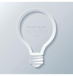 Modern idea lightbulb icon banner template vector