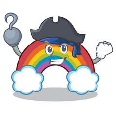 Pirate colorful rainbow character cartoon vector