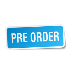 Pre order square sticker on white vector