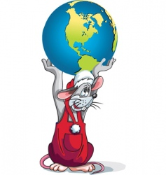 rat earth vector image