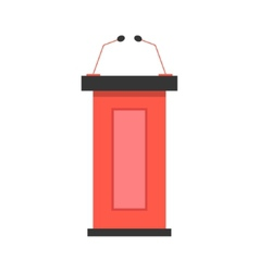 red tribune icon with microphones vector image vector image