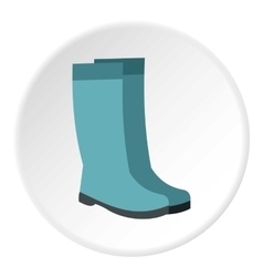 Rubber boots icon flat style vector image