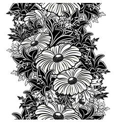 Seamless monochrome pattern vector