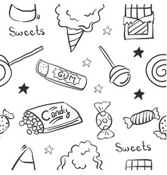 Sketch sweet candy of doodle vector