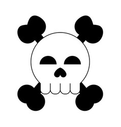 Skull and crossbones icon image vector