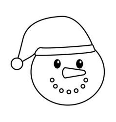 Snowman character christmas card vector