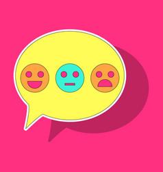 sticker emoticon set icons emoji symbols isolated vector image