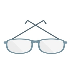 Style glasses isolated icon vector