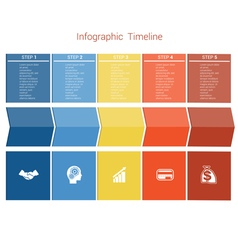 Timeline 5 options vector image vector image
