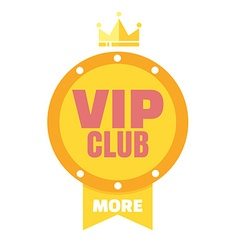 VIP club logo in flat style members only banner vector image