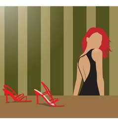 woman and shoes vector image vector image