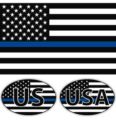 Usa flag blue stripe vector