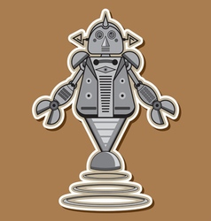 12 Robot toys vector image