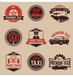 Taxi labels template taxi service vector