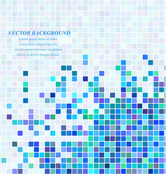Abstract square mosaic background design vector