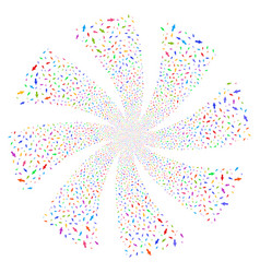 man person fireworks swirl rotation vector image