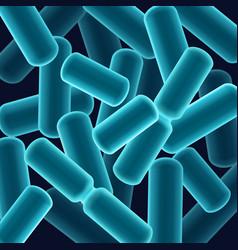 Rod-shaped bacilli bacteria vector