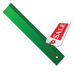 Green ruler for sale vector