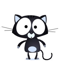 Lucky black cat vector