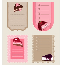 Set of cake tags - for design and scrapbook vector
