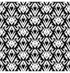 Art deco black and white pattern vector