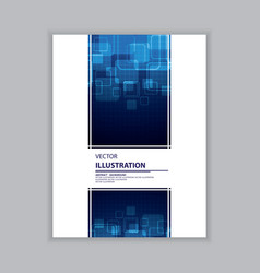 abstract blue and white cover vector image vector image