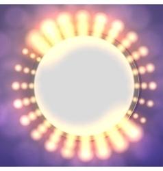Abstract circle light banner vector