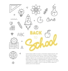 Back to school text with various education icon vector
