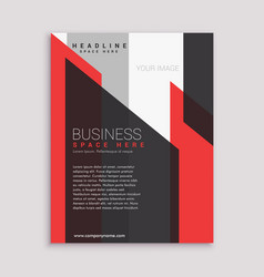 Business flyer brochure design template in red vector