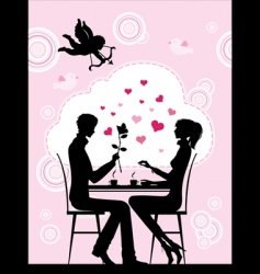 cafe couple vector image vector image