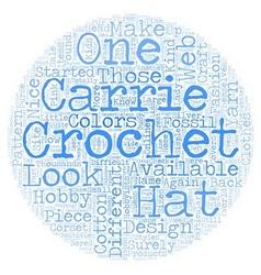 Carrie crochet text background wordcloud concept vector
