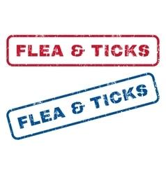 Flea ticks rubber stamps vector