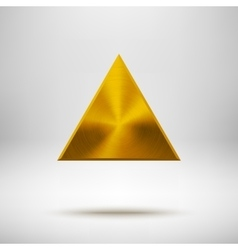 Gold Abstract Triangle Button Template vector image vector image