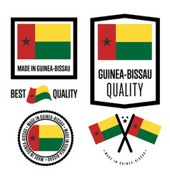Guinea bissau quality label set for goods vector