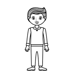 Guy silhouette with formal suit and pants vector