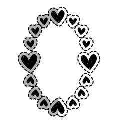 hearts decoration design border vector image vector image