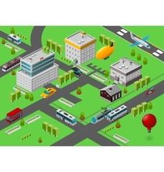 Isometric city street vector